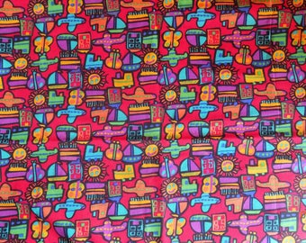 "62"" x 44""  Trains Plains Automobiles and Boats Fabric"
