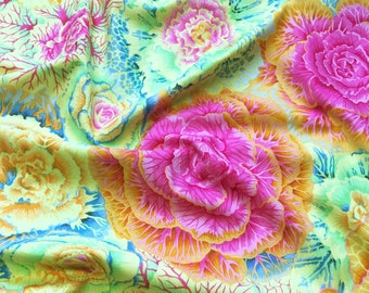 Brassica in Yellow PWPJ051.YELLO Philip Jacobs Kaffe Fassett Collective Classics Free Spirit Fabric