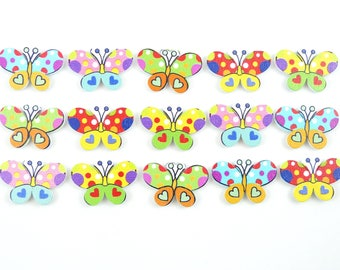 Butterfly Fridge Magnets Cute, Neodymium and painted wood 4 gift boxed Guy's Magnets