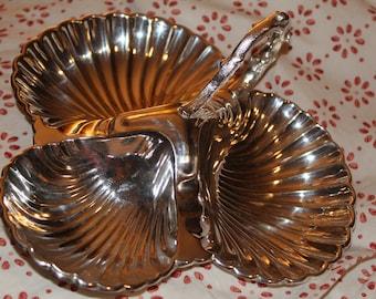 Creswick & Co. Silverware Leaf Dish Tray Vintage