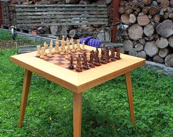 Vintage Chess Table, Game Table, 60s