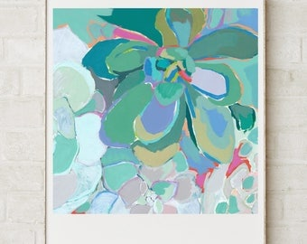 Succulents Crop / Signed Giclee Print