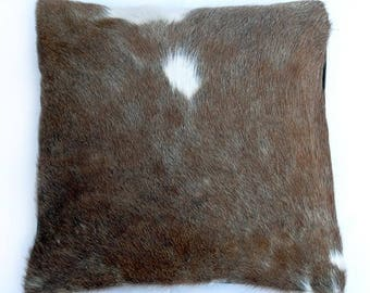 Natural Cowhide Luxurious Hair On Cushion/ Pillow Cover (15''x 15'') A11