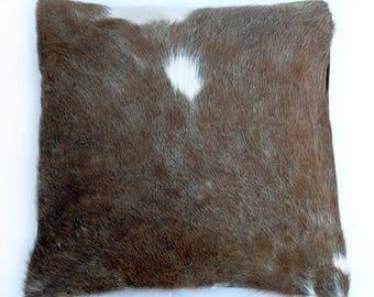 Natural Cowhide Luxurious Hair On Cushion/ Pillow Cover (15''x 15'') A11