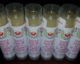 Bachelorette Party Favors Lip Balm TEQUILA made me do it!