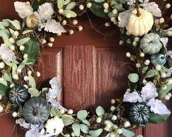 Autumn Wreath, Fall Wreath, Pumpkin Wreath