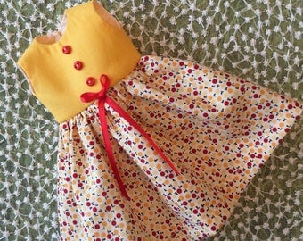 Yellow and Red Vintage Dress
