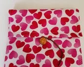 Valentine pouch valentine holder valentine bag Valentine pouches Valentine carriers 7.5 in wide X 7 inches long.