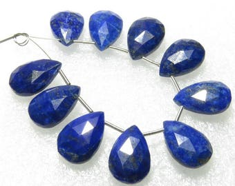 Lapis Lazuli - Faceted - 5 Matching Pairs - Pear Shape - size 10x15 mm