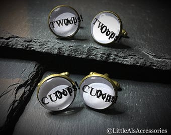 Mens Cufflinks, Rude Cufflinks, Rude Cuff Links, Curse Word, Mature Content, Sweary Cufflinks, Twat Cufflinks, Funny Cufflinks, Gift For Him