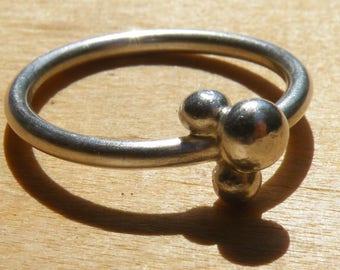 Hanmade silver 925 bubble ring