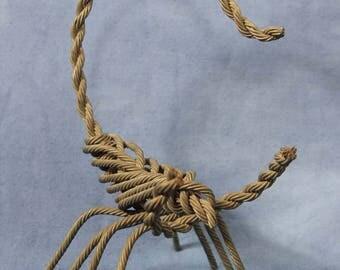 "Vintage 9"" Metal Rebar Wire Scorpion Sculpture, Folk Outsider Art"