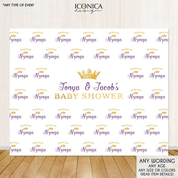Popular Baby Shower Photo Booth Backdrop, Custom Step and Repeat Backdrop  KV47