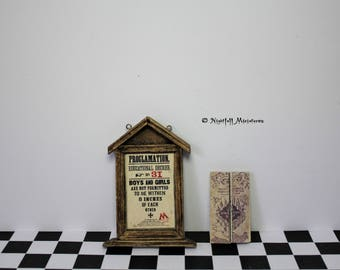 Dollhouse Miniature Magic Harry Potter Inspired Proclamation and Marauders Map 1:12 scale