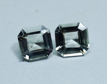 Prasiolite Pair Gemstone Green Amethyst Pair Gemstone -Loose Gemstone Faceted Stone Amethyst Cushion Shape 9x9 mm
