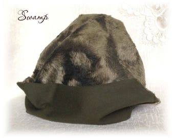 Italian Viscose Plush Fabric Fur Metallic Collection Swamp dark green Colour 6 mm pile 1/8 m teddy bear making supplies