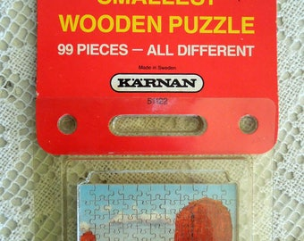 KARNAN World's Smallest Wooden Puzzle