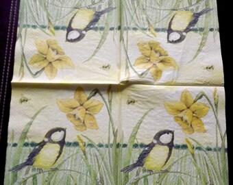 Towel 1 paper birds tits