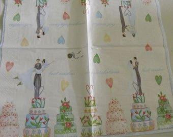 Paper towel / Napkins: wedding cake