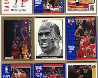 9 Vintage Michael Jordan Basketball Cards NM/M Lot