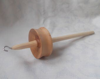 Wooden drop spindle, top whorl spindle, spinning tool. Begginer spindle apple wood, simple drop spindle. Lightweight spindle, wood spindle