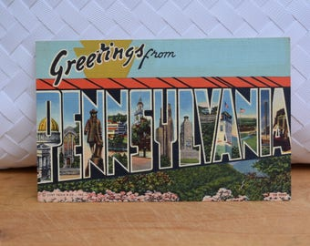 Vintage Pennsylvania Linen Postcard