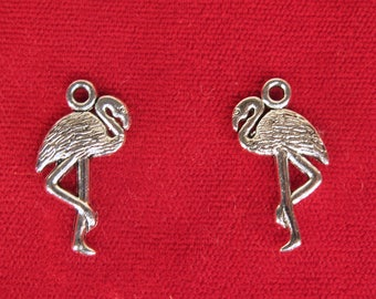 "10pc ""flamingo"" charms in silver style (BC1339)"