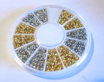 """1 box """"crimp end beads"""" mixed 2, 2.5, 3mm assorted (JC172)"""
