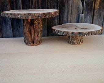 SMASH CAKE Stand Cupcake stand Rustic Wooden Stand Tree Slice Decoration Rustic Wedding Round Wooden Stand