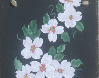 Painted DOGWOOD SLATE ....pretty in pink