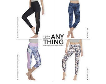 Simplicity Pattern 8212/D0649 Misses' Knit Leggings up for anything collection. Size XXS-XXL. Pattern is new and uncut.