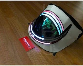 LED Mask -  DJ Light Up Mask Meteorlizer PRJ1 Mask / Robot Costume Rave Helmet Cosplay Party Bot Headwear Scifi Cyber Mask Futuristic Face
