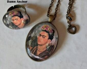 FRIDA KAHLO, necklace + ring