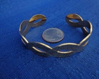Sarah Coventry Braid Bracelet, Gold Cuff Bracelet,70's Bracelet