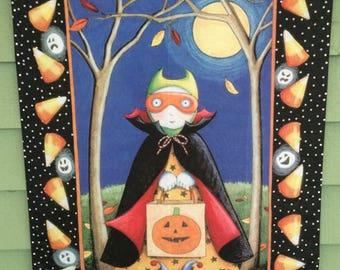 Mary Engelbreit Halloween flag,Halloween flag,Mary Engelbreit Halloween,outdoor Halloween decor,outdoor Halloween decorations,trick or treat