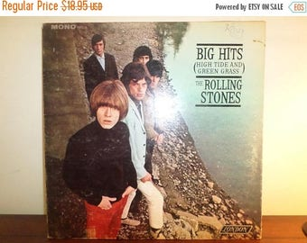 Save 30% Today Vintage 1966 Vinyl LP Record The Rolling Stones Big Hits High Tide and Green Grass Very Good Condition 11373