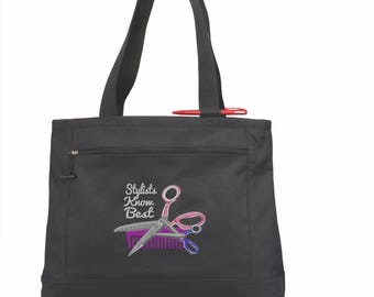 Hairstylist Tote Bag/ Hairstylist Gift/ Hairdresser Tote Bag/ Stylists Know Best Hairstylist Hairdresser Tote Bag/ Hairdresser Gift