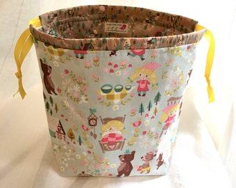 PRE ORDER ShawlSack Medium Sized Knitting Bag Drawstring Project Bag