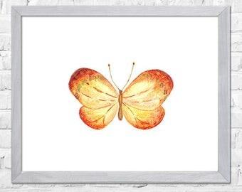 Butterfly Wall Art, Watercolor Painting, Butterflies Illustration, Butterfly Print, Kids Room Decor, Nursery Art, Nursery Decor