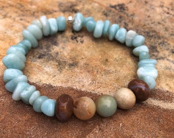 Natural Stone Elastic Bracelet- One size fits most
