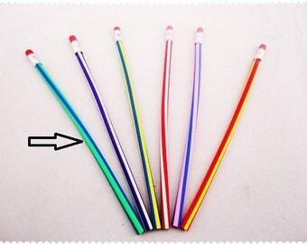 X 1 blue/green gray pencil and Eraser