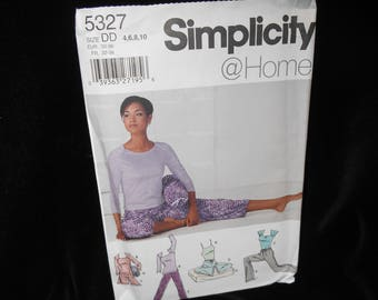 Misses pants yoga top Simplicity 5327 Womens 4 6 8 10 Knit pants shorts camisole top yoga accessories