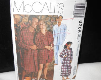 Men Nightshirt McCalls 6306 Misses Womens Pajamas Size Small Medium Large Lanz of Salzburg