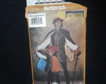 Childrens Boys Butterick 5656 Mens Renaissance Costume Cape Shirt Leggings Boots Doublet Making History