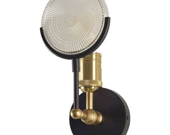 Gas Light Wall Sconce with Magnify Lens Steampunk Industrial or Modern