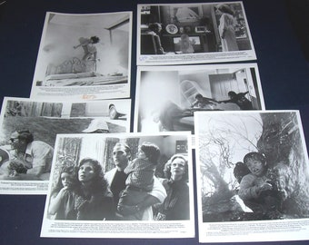 Lot of 6 press photos from film Poltergeist, 1982