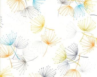 1/2 Yard - Fragile - Dandelion - Chalk - Zen Chic - Brigitte Heitland - Moda - Fabric Yardage - 1630 11