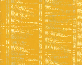 1/2 Yard - Fragile - Call Me - Mustard - Zen Chic - Brigitte Heitland - Moda - Fabric Yardage - 1633 18