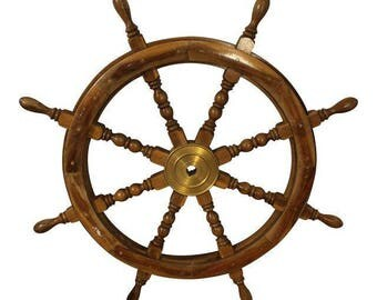 Vintage Ship Wheel Architectural Nautical Salvage Ship Wheel