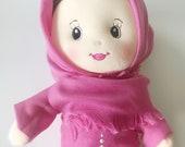 Muslim Doll, Muslim Toys, Cloth Doll in a Muslim Dress, Hijabi Doll, Hijab Doll, Muslim Kids, Ramadan